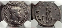 Ancient Coins - GORDIAN II Africanus 238 AD Silver Denarius VERY RARE Ancient Roman Coin NGC XF