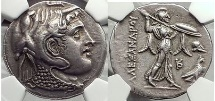 Ancient Coins - PTOLEMY I Silver Tetradrachm 311BC Egypt Silver Greek Coin NGC Certified AU* 5/5 5/5