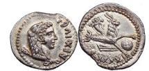 Ancient Coins - JUBA II, MAURETANIA, Silver Denarius 16  A.D. CAPRICORN.. Superb. Rare.