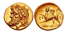 Ancient Coins - PANTIKAPAION in BOSPORUS 340 BC NGC Certified AU. 5/5. 4/5. FINE STYLE. Extremely Rare. Superb!