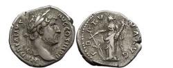 Ancient Coins - HADRIAN, Rome, 133 AD. Silver Denarius. Fortuna.