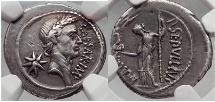 JULIUS CAESAR Lifetime 44 BC Rome  NGC Certified XF Rare