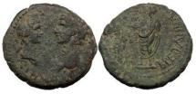 Ancient Coins - CLAUDIUS and MESSALINA, Tralles, as Caesarea, 43-39 A.D.  Britannicus. Very Rare.