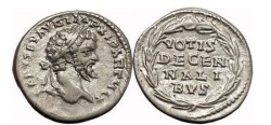 Ancient Coins - SEPTIMIUS SEVERUS, 202 AD. Silver Denarius. Superb and Exceedingly Rare!