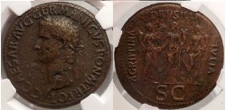 Ancient Coins - CALIGULA Agrippina Jr. Livilla Drusilla Julia Livilla Sestertius NGC VF