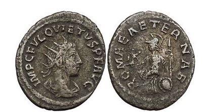 Ancient Coins - QUIETUS, Usurper, 260-261, Antioch. Antoninianus. ROMAE AETERNAE. Very Rare.