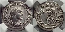 Ancient Coins - GORDIAN II AFRICANUS 238 A.D.  Rome RARE Ancient Silver Roman Denarius Coin NGC AU