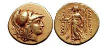 Ancient Coins - ALEXANDER III the Great 324 BC Authentic Ancient Greek GOLD Coin LIFETIME Rare