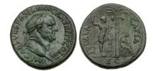 Ancient Coins - VESPASIAN 71AD Jewish War JUDAEA CAPTA Superb Sestertius Ancient Roman Coin RARE