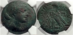 Ancient Coins - QUEEN CLEOPATRA JULIUS CAESAR & MARK ANTONY Roman Lover Egypt Greek Coin NGC VF