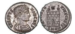 Ancient Coins - Crispus, the first-born son of Constantin I and Minervina, Heraclea,326AD.Superb