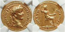 Ancient Coins - TIBERIUS Authentic Ancient TIME of JESUS 15AD BIBLICAL GOLD  Aureus NGC CH XF 5/5; 4/5