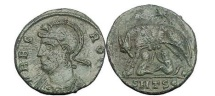 Ancient Coins - Constantine the Great, 333 AD.Thessalonica. VRBS ROMA,She-wolf w.Romulus&Remus.