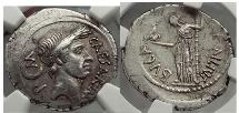 JULIUS CAESAR 44 B. C . L. Aemilius Buca. Pedigreed NGC Ch XF*