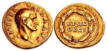 Ancient Coins - GALBA 69 AD Gold Aureus Ex Mazzini Collection VERY RARE