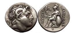 Ancient Coins - LYSIMACHOS, Pergamum, 287 BC. Silver Tetradrachm. Athena holding Victory.