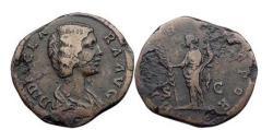 Ancient Coins - DIDIA CLARA, Rome, 193 A.D.,  Bronze Sestertius. Hilaritas. Rare.