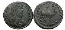 Ancient Coins - JULIAN II the Apostate, Nicomedia, 361-363 A.D. Nummus. Emperor. Bull, two stars.
