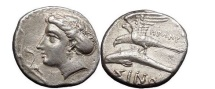 Ancient Coins - PAPHLAGONIA: Sinope, Silver Drachm, 300-330 BC Nymph, Sea-eagle, HPΩNY.