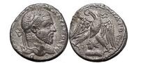Ancient Coins - MACRINUS, Silver Tetradrachm, Seleucis and Pieria: Emesa 218 A. Shamash. RARE.