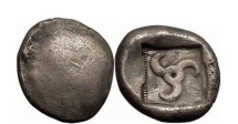 Ancient Coins - LYCYAN DYNASTS, 500 BC. Triskeles.