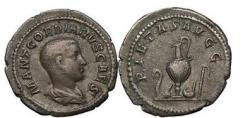Ancient Coins - GORDIAN III as Caesar  238 A.D. Silver denarius. Priestly emblems. Very Rare. Ex A. Lynn Collection, Ex CNG 50