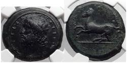 Ancient Coins - SICILY: Syracuse, 317 B.C. Timoleon.  Zeus Eleutherios. Horse. Third Democrasy. NGC XF 5/5, 3/5. FINE STYLE.