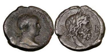 Ancient Coins - ELAGABALUS, 218 A.D. Billon Tetradrachm. Alexandria. Egypt. Emperor/ ZEUS.
