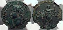 Ancient Coins - Marcus Vipsanius Agrippa Augustus General  CALIGULA NGC AU