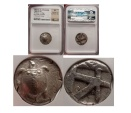 Ancient Coins - AEGINA GREECE ISLAND 480BC NGC Certified XF Ancient Silver TURTLE Greek Coin