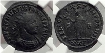 JULIAN of PANNONIA, Sisica, 284 A.D. Bronze Antoninianus, Extremely Rare. Superb. NGC XF