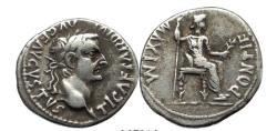 Ancient Coins - TIBERIUS 15 AD Silver BIBLICAL Jesus Christ RENDER CAESAR
