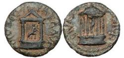 Ancient Coins - Agrippa II, Caesarea, 63AD Claudia, the Infant daughter of Nero & Poppaea Sabina