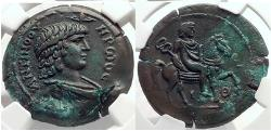 Ancient Coins - ANTINOUS , Hadrian,  Alexandria Egypt  Ars Classica 16, 1933, ex. Conte Alessandro Magnaguti III,1950 NGC AU 5/5, 3/5