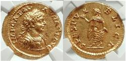 Ancient Coins - CARACALLA Authentic Ancient 198AD NGC Certified MS* Gold Aureus, Ex Egger