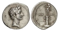 Ancient Coins - OCTAVIAN's Triumph over Mark Antony & Cleopatra 29BC Authentic Silver Roman Coin