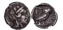 Ancient Coins - ATHENS Attica Greece 440BC Ancient Greek Silver Tetradrachm  OWL ATHENA