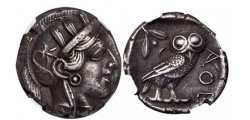 Ancient Coins - ATHENS Attica Greece 440BC Ancient Greek Silver Tetradrachm  OWL ATHENA