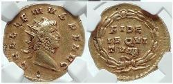 Ancient Coins - GALLIENUS  262 AD Rome Aureus Gold Very RARE NGC Ch XF