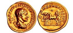 Ancient Coins - ELAGABALUS 220 A.D. Stone of Emesa Chariot Extremely RARE Pedigree: Ex Evans, Ex Mazzini NGC ChXF*