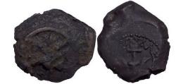 Ancient Coins - Alexander Jannaeus: Jerusalem. King of Israel, Bronze Prutah 97 B.C. Anchor.