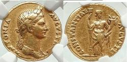 Ancient Coins - ANTONIA Nero Claudius Drusus Wife 41 AD Ancient Gold Aureus Coin RARE