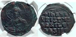 Ancient Coins - JESUS CHRIST Class A3 Anonymous  1020 AD Byzantine Follis Coin NGC MS