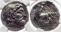 Ancient Coins - SELEUKOS I Nikator 296BC  Silver Greek Tetradrachm Coin ATHENA ELEPHANTS NGC VF* 4/5; 4/5