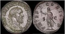 Ancient Coins - PUPIENUS 238 AD Rome SESTERTIUS Rare  Roman Coin EX Seaby 1934