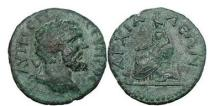 Ancient Coins - Septimius Severus,193-211 A.D., Bronze coin of Thrace,Anchialus. CYBELE with LION.