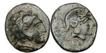 Ancient Coins - Asia Minor: PERGAMON, 300 B.C.,Bronze: Athena / Herakles. Rare.
