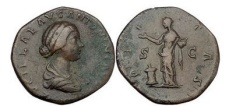 Ancient Coins - LUCILLA, Rome,166 AD Bronze Sestertius Pietas. Artistic style. High relief.