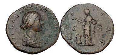 Ancient Coins - LUCILLA, Rome,166 AD Bronze Sestertius Pietas. Artistic style. High relief.