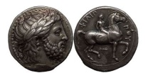 Ancient Coins - PHILIP II, Pella, 359 BC. Silver Tetradrachm. Excellent artistic style! Superb! NGC Ch XF* 5/5. 4/5. FINE STYLE.